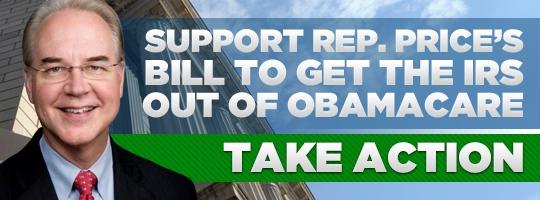 Tom Price ~ Keep IRS Off Health Care