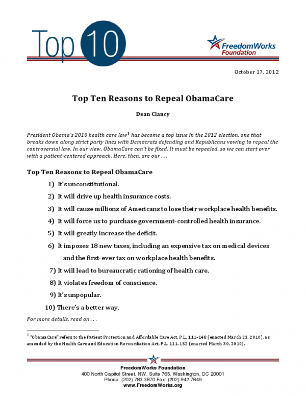 Top Ten Repeal