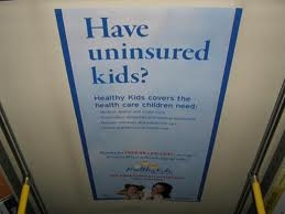 Poster advertising signups for Oregon Healthy Kids program