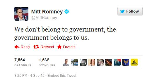 Romney's tweet in response