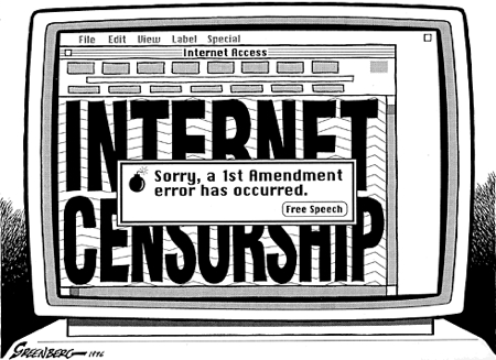 free speech on the internet and censorship